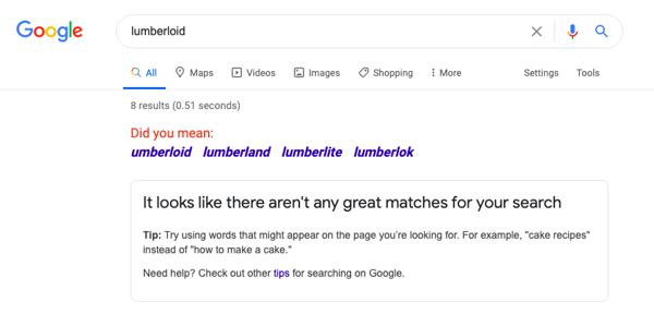Lumberloid_Google_SERP