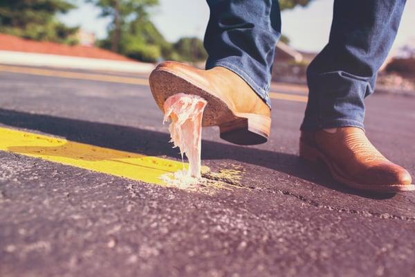 shoe-in-gum