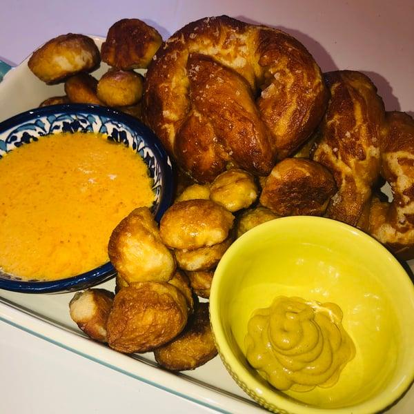 pretzels and pub dip